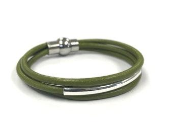 Leather Bracelet, Cuff Bracelet, Wrap Bracelet, Leather Wrap, Boho Jewelry, Boho Bracelet, Gift for Her, Magnetic, Friendship Bracelet