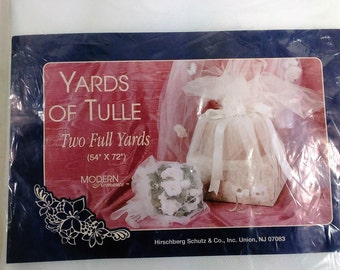 """Two Yards Of White Tulle/54"""" By 72""""/For Your Crafting Projects/New (K)"""