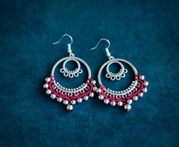 Gipsy silver earrings