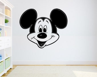 Mickey Mouse Wall Decal Mickey Mouse Sticker Art Disney Decorations For Home Teen Kids Boys Room Bedroom Nursery Decor