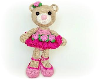 PATTERN - Bibi the Ballerina Bear (crochet, amigurumi) - in English