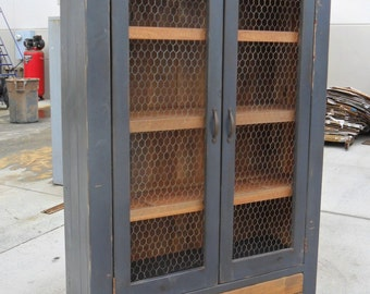 Bookcase, Display Cabinet, China Cupboard, Reclaimed Wood, Shelves, Rustic,  VMW230 WD