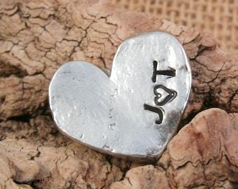 Heart Pocket Token - Love Token - Pocket Heart - Groom Gift - Fiance Gift