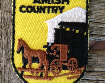Amish Country Vintage Souvenir Travel Patch from Voyager - LAST ONE!