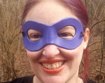 Purple Domino Mask - Round Edged Molded Leather Mask - Superhero Mask Comic Costume