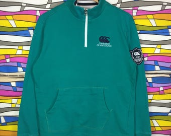 Rare!! Vintage CANTERBURRY Sweatshirt Small Logo Spellout Rugby