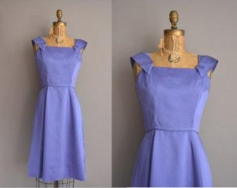 Miss Brooks 50s purple satin vintage dress. vintage 1950s dress