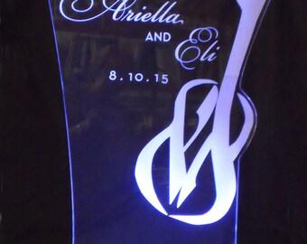 LARGE Glowing Centerpiece - Wedding - Bar Mitzvah - Corporate logos - ILLUMINATED