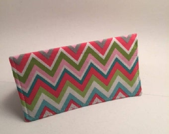 Chevron Checkbook Cover, Fabric Checkbook. Duplicate Checkbook, Gift for Her,  Checkbook Register, Chevron,  L Miller Creations