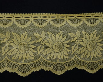 Yellow sunflower lace valance