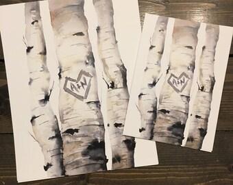 Customized Birch Trees