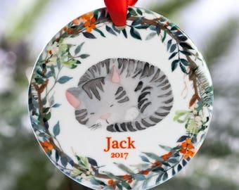 Kitty Christmas Ornament 2018