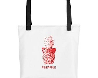 White Fineapple Pineapple Tote bag