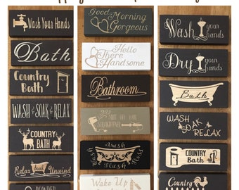 Superbe Bathroom Signs, Bathroom Decor, Wooden Signs, Powder Room Sign, Mini Wood  Signs, Rustic Home Decor Relax Soak Unwind, Farmhouse Decor Rustic