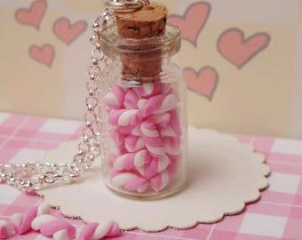 Tiny Marshmallows Jar Necklace