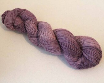 Semisolid purple, Hand dyed BFL Sock 4-ply, 75/25 sw BFL/nylon