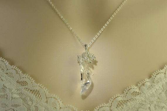 Cinderella necklace glass slipper necklace like this item aloadofball Images