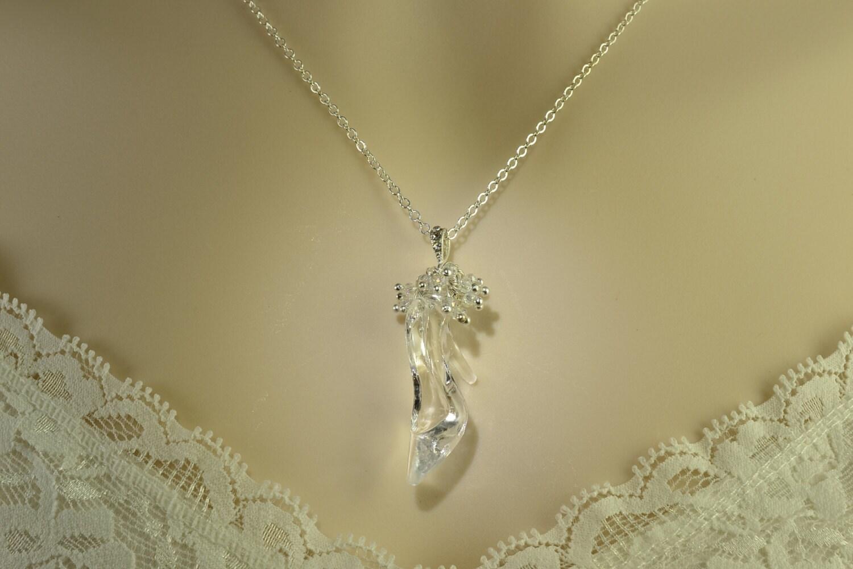 Cinderella necklace glass slipper necklace zoom aloadofball Gallery