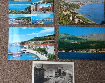 Yugoslavia vintage postcards, 5 Yugoslavian postcards from 1950s & 1970s, Belgrade, Slovenia, old postcards collection