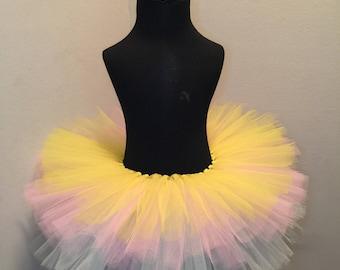 Yellow Pink Mint Green Lavender Tutu, Multicolor Tutu, Princess Tutu, Birthday Tutu, Tutu Skirt, Girls Tutu, Girls Tutu Skirt