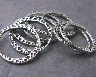 Hammered Lead-Free Pewter Rings (8)
