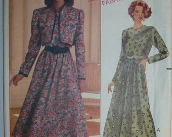 Vintage Butterick Misses' /Misses Petite Jacket and Dress Pattern 4989  Sizes 12-14-16