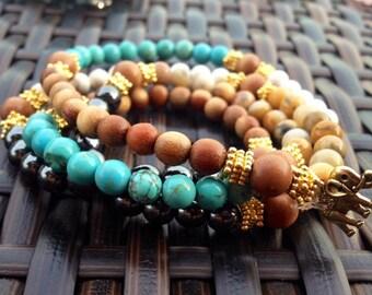 Mala Bead wrap bracelets....FREE SHIPPING