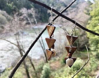 Sturgeon back shell earrings