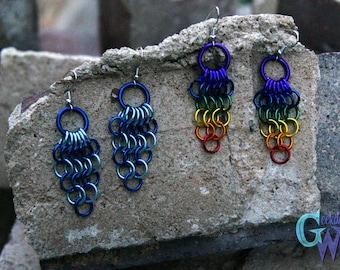 Handmade European Weave Chainmallie Earrings