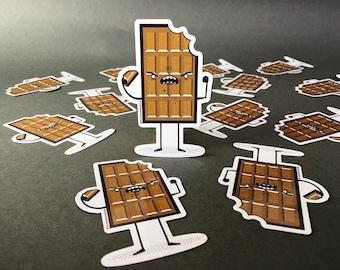 Chocolate vinyl sticker
