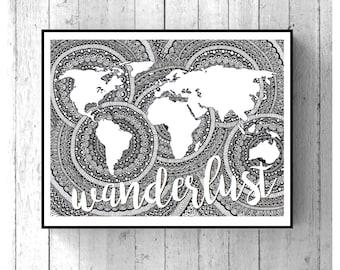 Wanderlust/Adventure/Explore Wall Print
