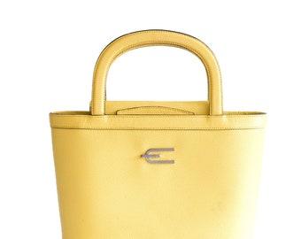 Vintage Etro yellow leather crossbody bag