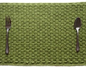 Basketweave Placemat - PDF Crochet Pattern - Instant Download