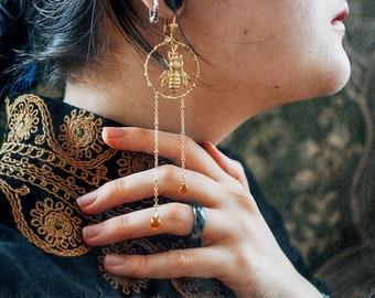 QUEEN BEE hoop earrings | Ana Karuso