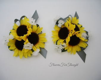 Sunflower Wrist Corsage, Prom, Homecoming, Special Occasion,1 piece