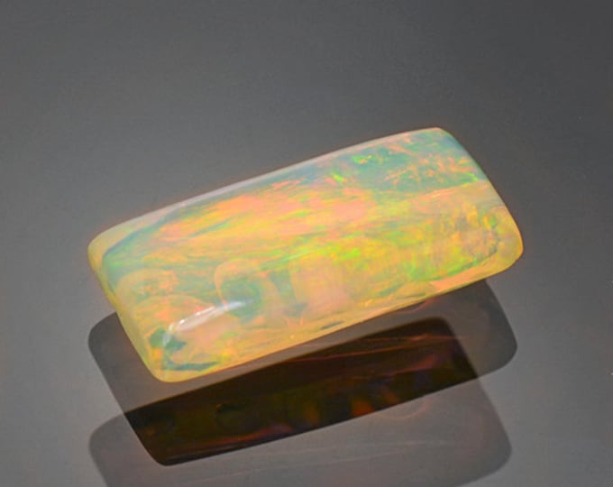 FLASH SALE! Unique Multicolor Carved Opal Gemstone from Ethiopia 3.63 cts.