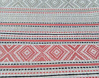 Set of tablecloths and napkins Set of towels Folk Tribal ornamental decor Organic linen Blue Red Grey Spring Easter decor gift for her