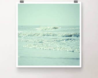 "KunstDruck ""SeeGang"" - Natur See Meer Ozean Strand Wellen Wasser vintage Foto Fotografie"