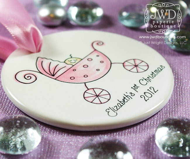 Babys first christmas ornament personalized baby ornament my zoom negle Image collections