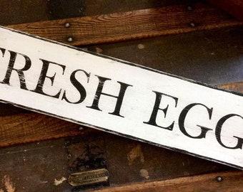 Handmade wooden pallet sign Fresh Eggs