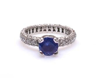 Tacori Tanzanite ring in platinum with 1.08ct of diamonds