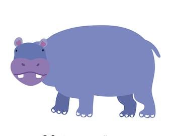 Hippopotamus (4x4 Card)