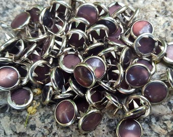 Brown Snaps, Brown Pearl Snap Fasteners, 12 mm Pearl Snaps, Western Snaps, Size 16 snaps