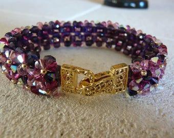 "BRACELET ""cosmos"" with SWAROVSKI Crystal beads"