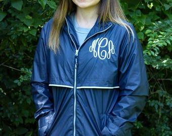 FREE SHIPPING! Monogrammed Charles River Rain Jacket - Monogrammed Rain Coat - Monogrammed Rain Jacket - Monogrammed Jacket