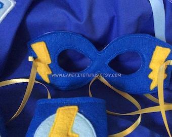 Superhero mask, costume, halloween accessories, superhero, clothing, girls clothing, boys clothing, embroidery, kids cape, supergirl
