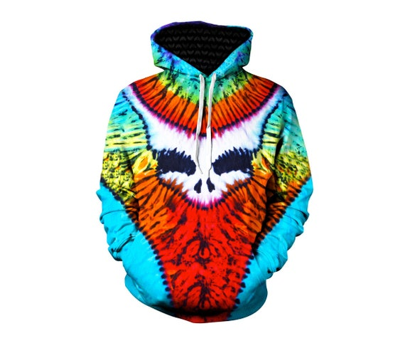 Best Grateful Dead Hippie Clothes - Greatful Dead Clothing - Zip Up Hoodie - Trippy Hippie Clothes - Festival Concert Hoody nIRI4TZ8x5