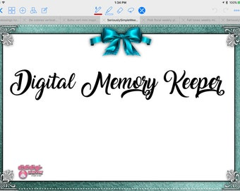 Teal Digital Memory Keeper for Digital Scrapbooking