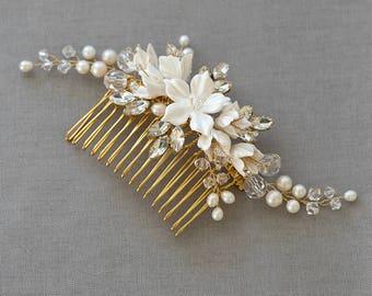 Bridal Comb, Wedding headpiece, Bridal Headpiece, Wedding Comb, headpiece, bridal hair accessories, wedding hair accessories | HARPER