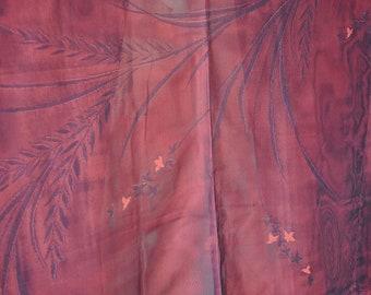 Sha silk haori/japanese womens kimono jacket/light summer kimono top cardigan/vintage short kimono robe/see through robe jacket